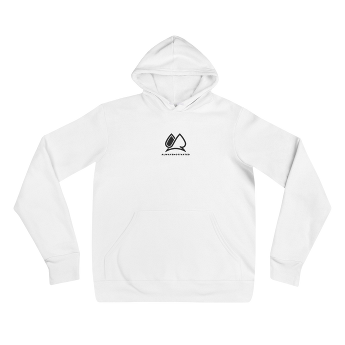 CLASSIC Always Motivated LOGO HOODIE - White/Black