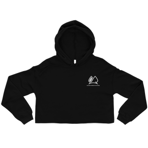 Always Motivated Crop Hoodie (BLACK/White)
