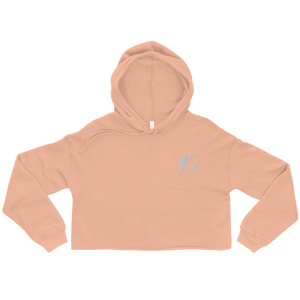 Always Motivated Crop Hoodie (Peach/White)