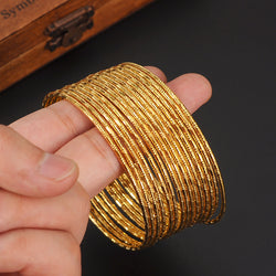 BEAUTIFULLY CRAFTED GOLD BANGLES