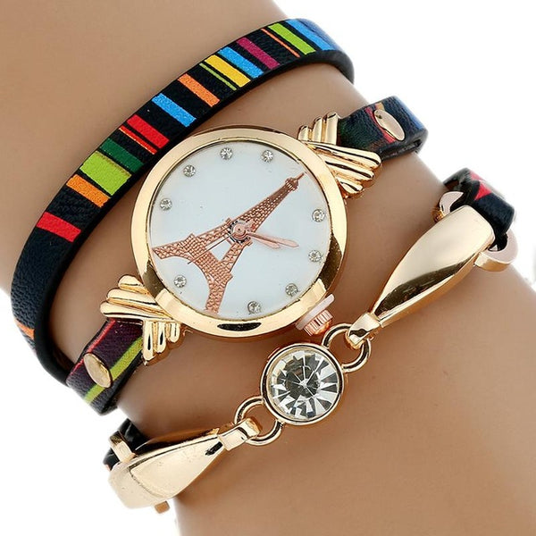 Women's Gold Quartz WristWatch Bracelet