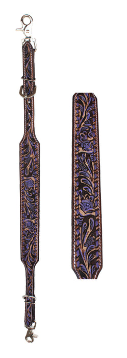 Western  Tack Floral Tooled Leather Wither Breast Collar Strap  10509