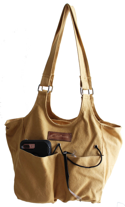 Women's Western Canvas Shoulder Handbag Purse Tote Carry All Bag 17AA02