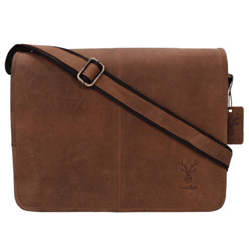 Genuine Leather Expandable Portfolio Messenger Shoulder Bag Brief Case 18MB203RD