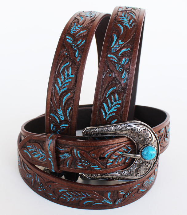 HANDMADE BASKET WEAVE TOOL HEAVY DUTY WESTERN LEATHER BELT 2601RS2802