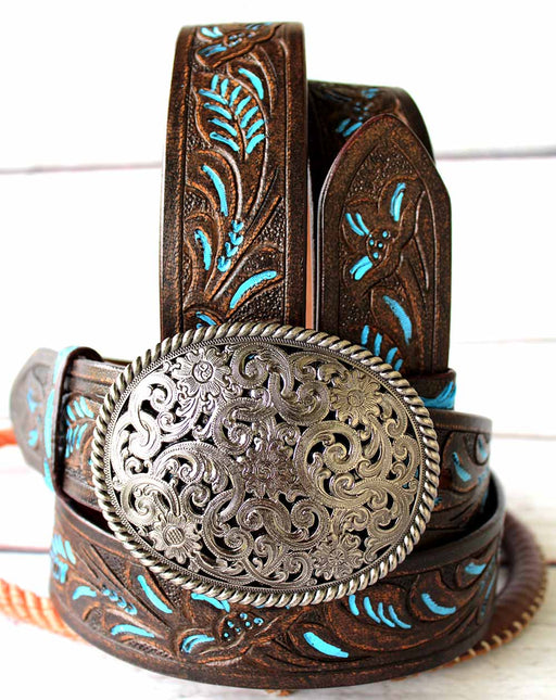 30-60 ProRider Womens Mens Leather Belt Handmade Carved Heavy Duty 2601RS2807