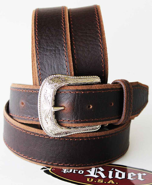 Unisex Full Grain Cowhide 100% Leather Casual Dress Belt Brown 2608RS2803