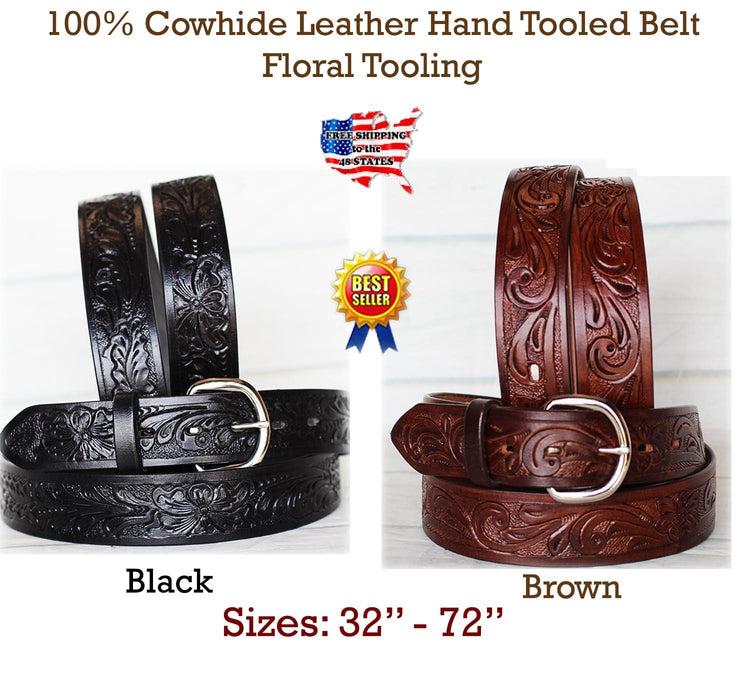 30-60 HEAVY DUTY HANDMADE COW HIDE LEATHER STICHED HOLSTER MENS BELT 2616RS0