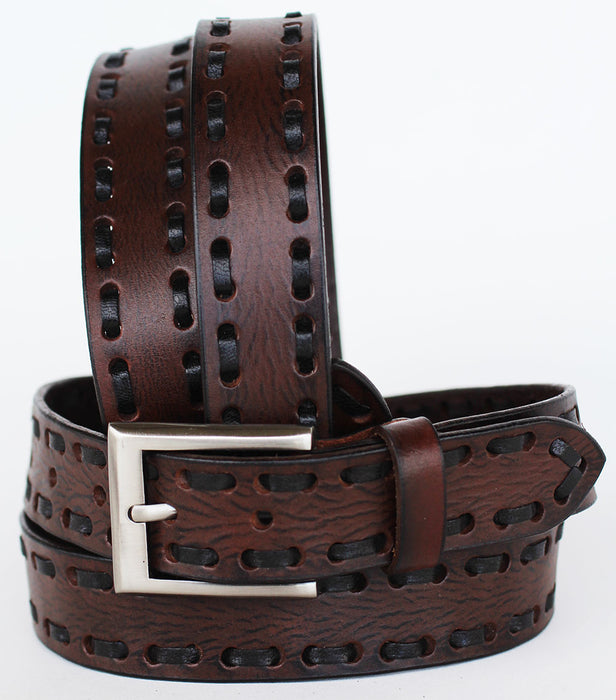 Handmade Heavy Duty Men's Dress Casual Cow Leather Belt Brown 262728RS