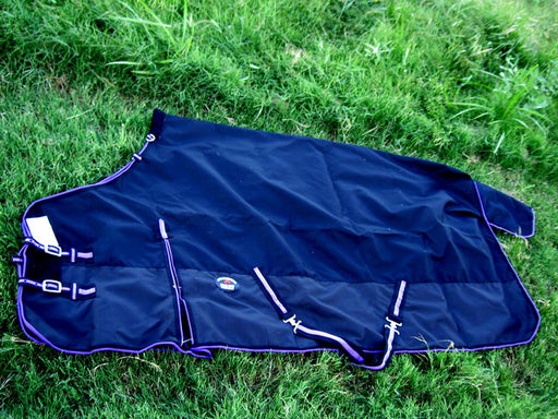 1200D Turnout Waterproof Rain Horse SHEET Light Winter Blanket Black 307