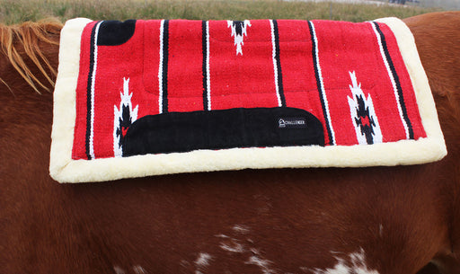 "Cotton Acrylic Western Trail Horse SADDLE PAD Pony Navajo Red Pony 26""x26"" 3463"