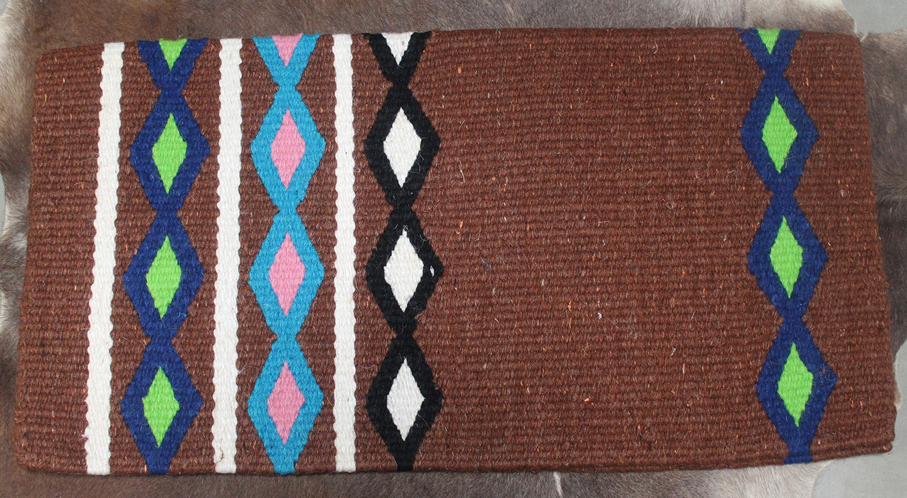34x36 Horse Wool Western Show Trail SADDLE BLANKET Rodeo Pad Rug  36136