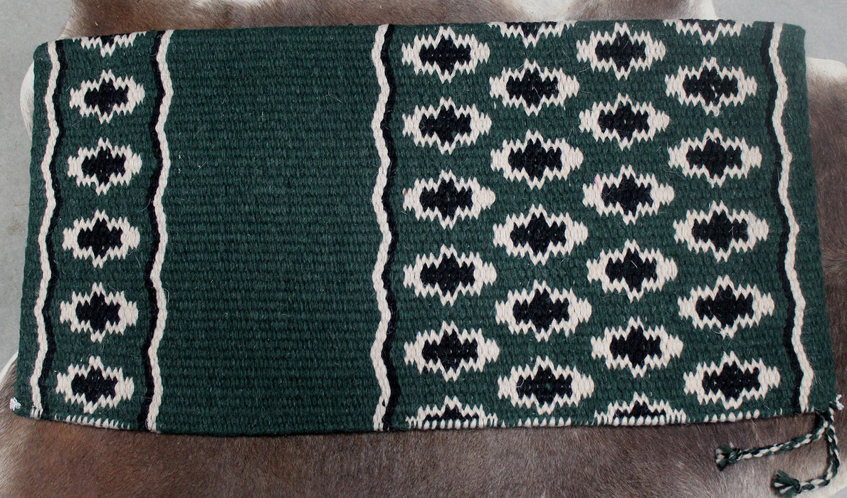 34x36 Horse Wool Western Show Trail SADDLE BLANKET Rodeo Pad Rug  36151