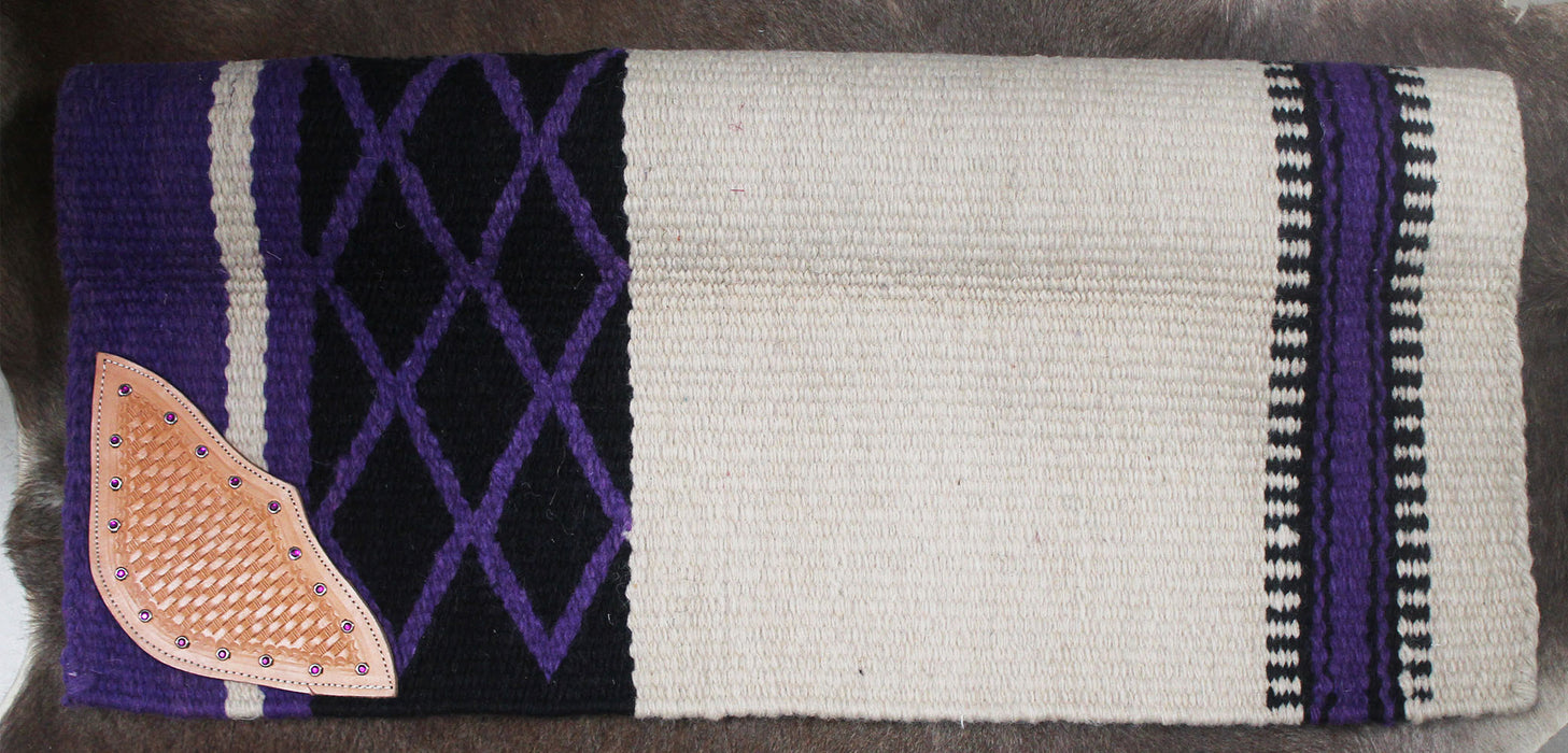33x31 Horse Wool Western Show Trail SADDLE BLANKET Rodeo Pad Rug  36172T