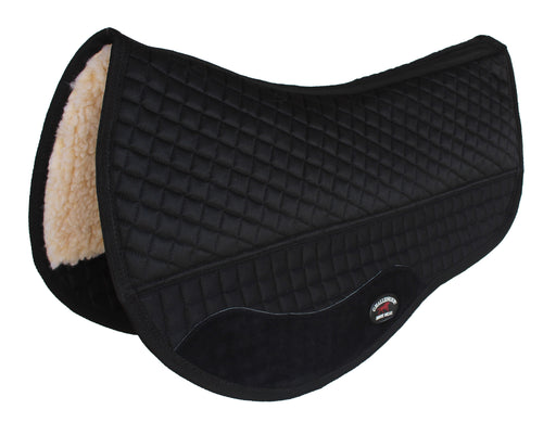 "Challenger 28"" x 30"" Western Quilted Fleece Padded Barrel Saddle Pad Black 39106"