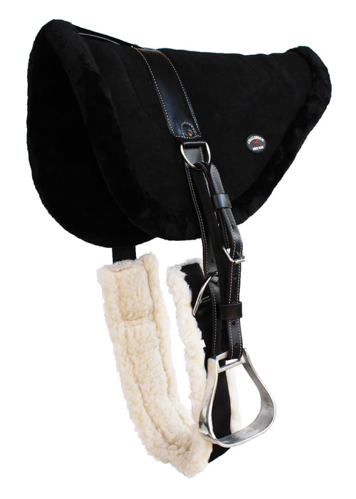 Horse SADDLE PAD WESTERN BAREBACK Suede Leather Girth Stirrups 39157-161