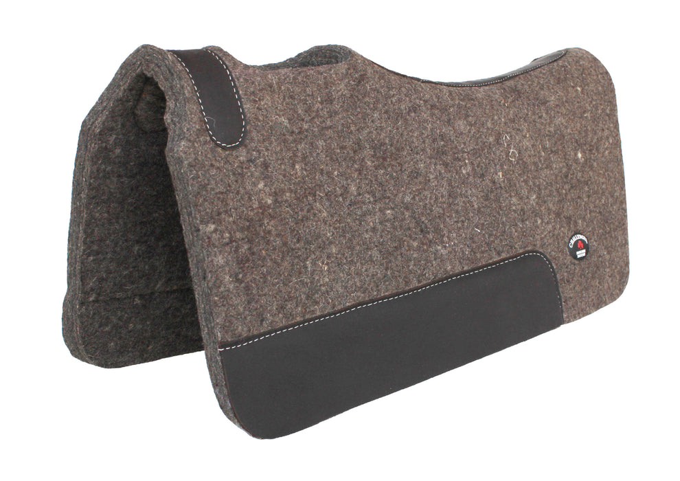 Thick Horse SADDLE PAD Western Contour Wool Felt Therapeutic 3981