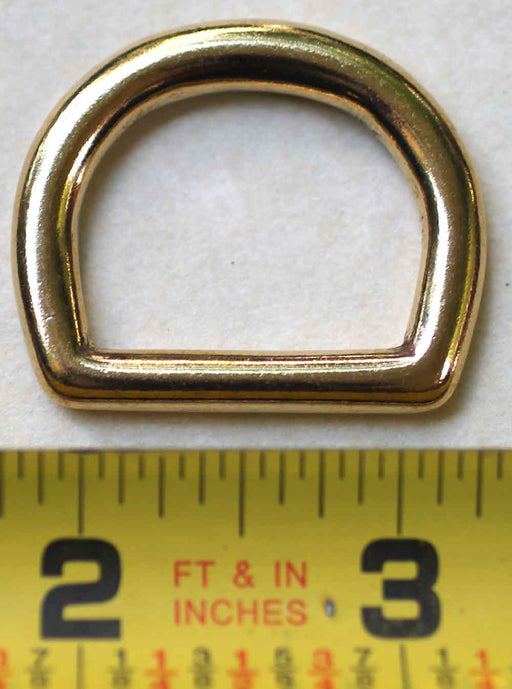 "10 Pack 1"" Cast Rigging Dee Ring Solid Brass Leather Tack Collar Repair 40335L10"