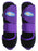 Horse Medium Professional Equine Splint Sports Medicine Boots Purple Black 4114A