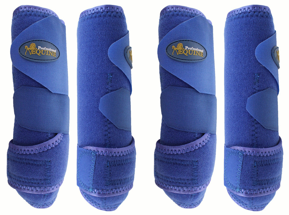 Professional Equine Medium 4-Pack Sports Medicine Splint Boots Blue 41BLC