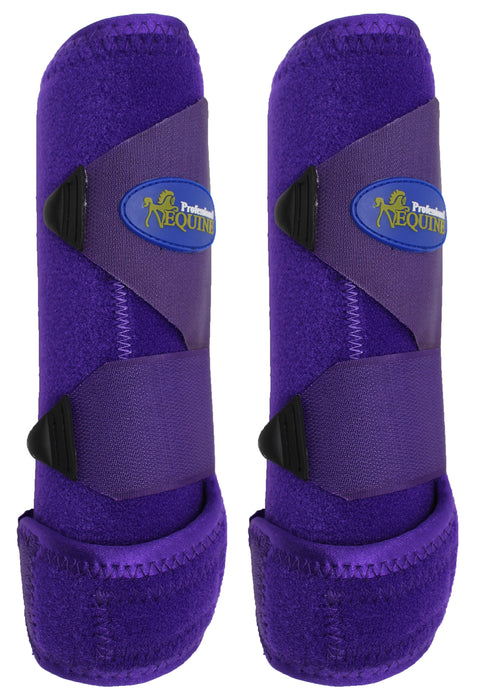 Professional Equine Medium Sports Medicine FRONT Splint Boots Purple 41PRA