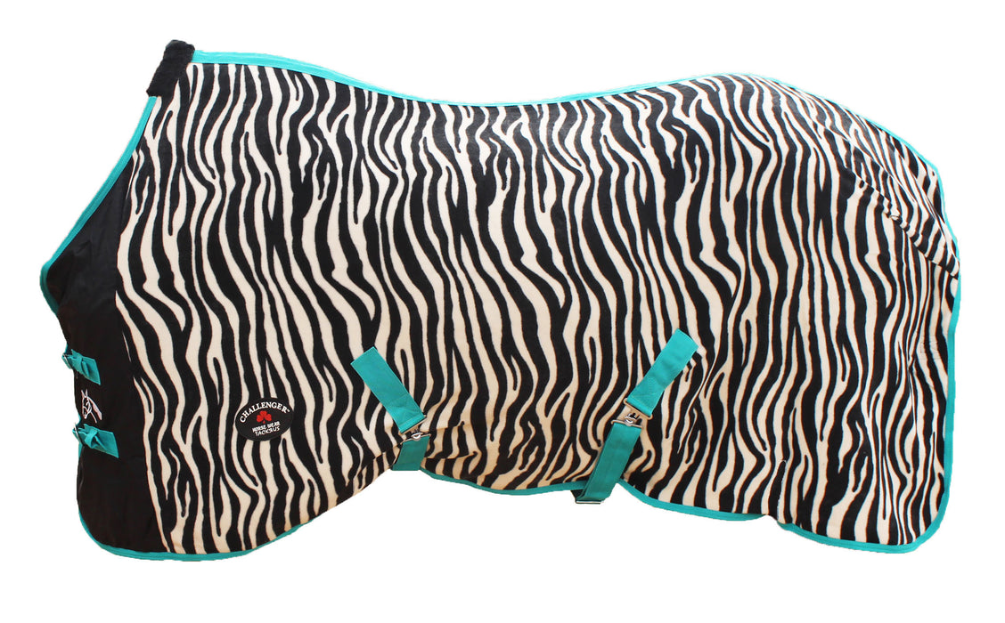 Horse Sheet Polar FLEECE COOLER Blanket Zebra 4340