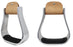 "Horse Saddle BELL Stirrups Width 4-3/4"" Western Brown Leather 5101"