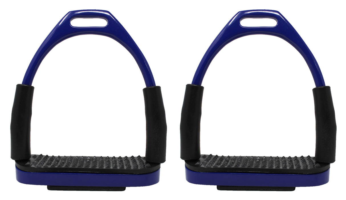 Horse Saddle English Riding Flex Iron Double Jointed Stirrups Blue 51112RB