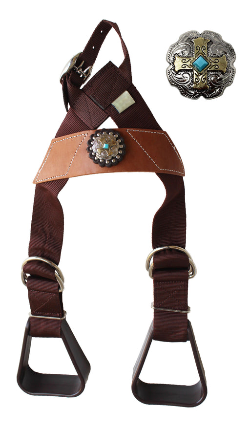 Horse Saddle Western Kids Child Youth Pony Buddy Stirrups w/ Concho 5138CO545