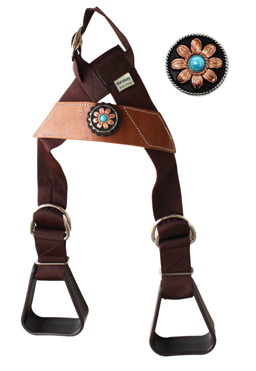 Horse Saddle Western Kids Child Youth Pony Buddy Stirrups w/ Concho 5138CO546