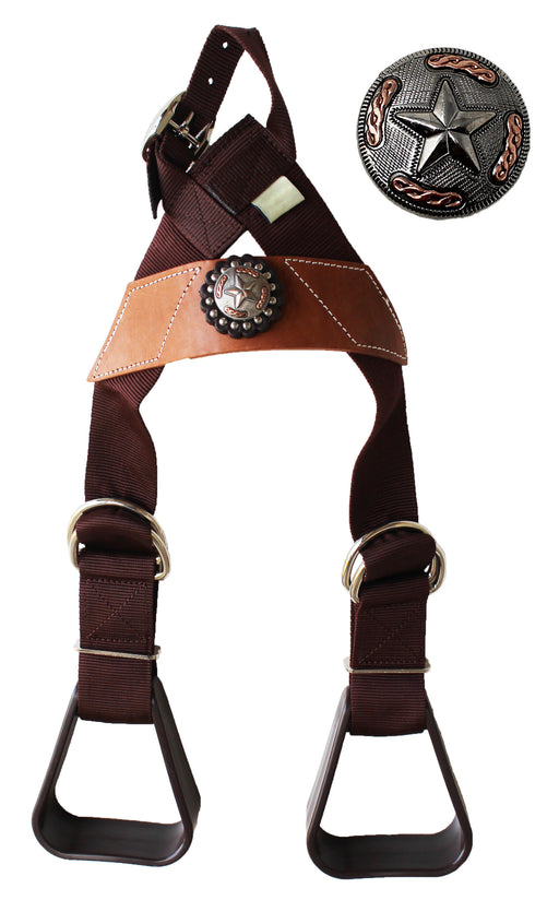 Horse Saddle Western Kids Child Youth Pony Buddy Stirrups w/ Concho 5138CO548