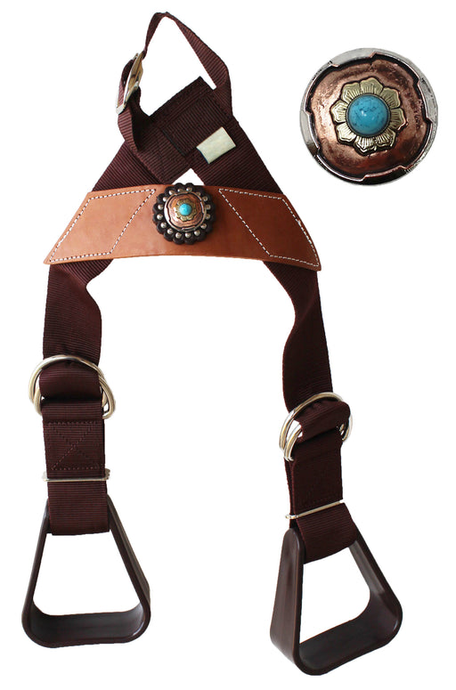 Horse Saddle Western Kids Child Youth Pony Buddy Stirrups w/ Concho 5138CO552