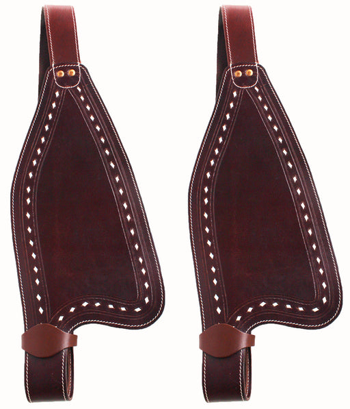 Horse Western Leather Replacement Saddle Fenders  5204-07