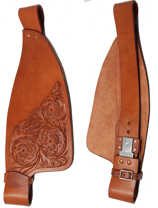 Horse Western Adult Tooled Leather Replacement Saddle Fender Pair 5223DT