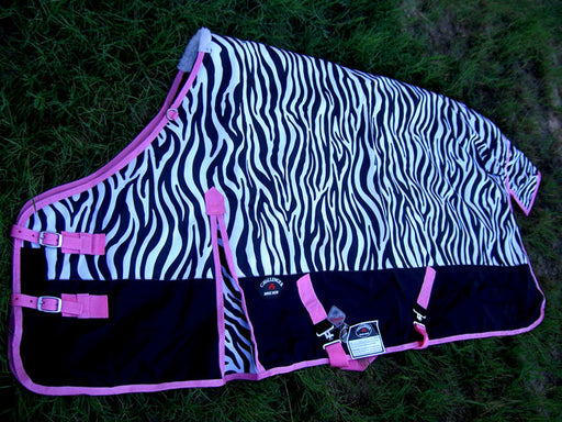 "80"" 1200D Turnout Waterproof Horse WINTER BLANKET HEAVY WEIGHT Pink 546"