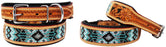 Dog Puppy Collar Genuine Cow Leather Padded Canine  60119