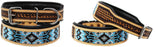 Dog Puppy Collar Genuine Cow Leather Padded Canine  60133