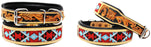 Dog Puppy Collar Genuine Cow Leather Padded Canine  60140