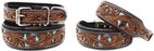 Dog Puppy Collar Genuine Cow Leather Padded Canine  60156