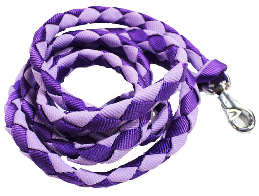 10' Horse Flat Nylon Braided Halter Lead Rope Lilac 60565