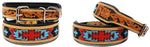Dog Puppy Collar Cow Leather Adjustable Padded Canine 6061