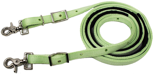 Horse Roping Western Barrel Reins Nylon Rein Lime Green 607151