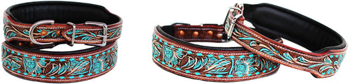 Dog Puppy Collar Cow Leather Adjustable Padded Canine 6087