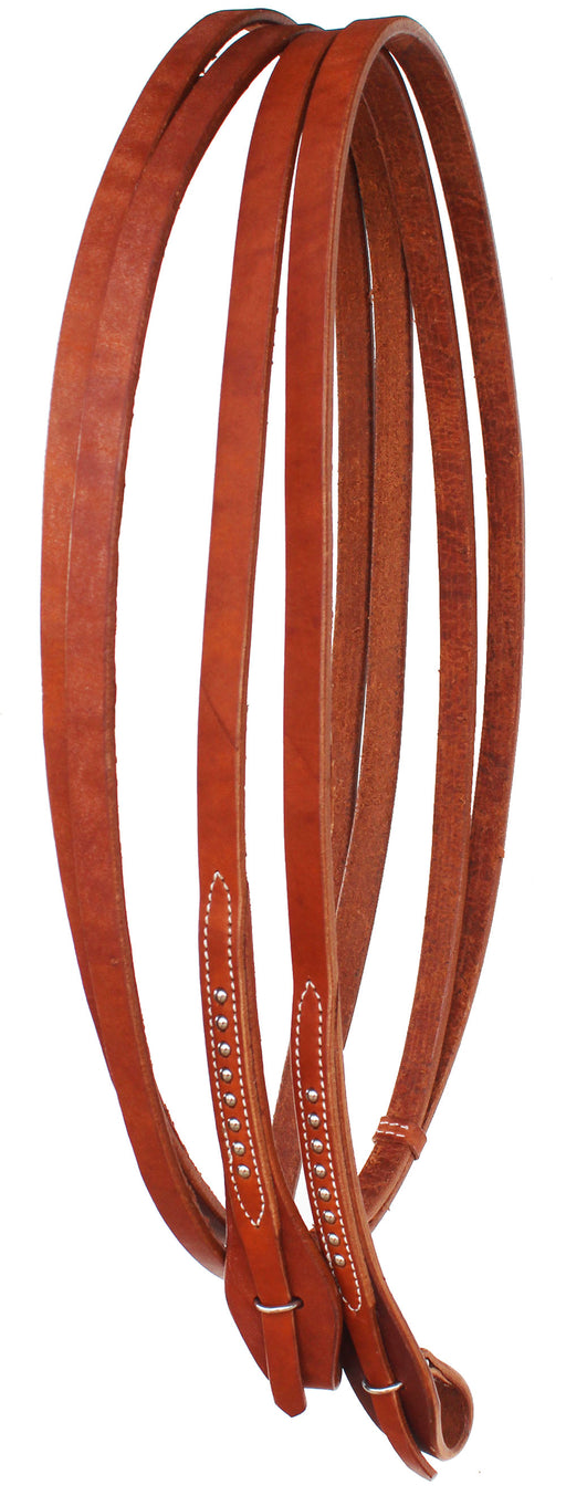 "Amish USA 7' 4"" x 5/8"" Horse Western Leather Quick Change Split Reins 66RT11"