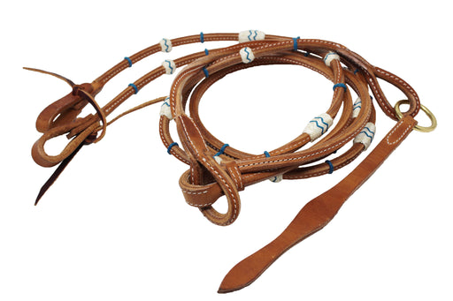 Amish USA Horse Western Tack Leather Rawhide Romel Romal Reins 66RT36TL