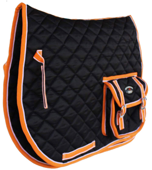 Horse Quilted ENGLISH SADDLE PAD Trail  Trail All Purpose Pockets 7298