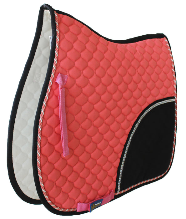 Horse Show All Purpose Quilted ENGLISH SADDLE PAD Trail Contoured 72F30