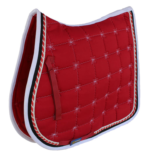 Horse Cotton Quilted All Purpose ENGLISH SADDLE PAD Contoured Burgundy 72F36