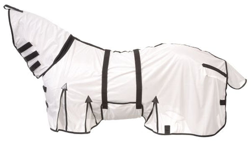 "64"" Horse Bug Mosquito Fly Sheet Summer Spring Airflow Mesh UV Neck White 73129"