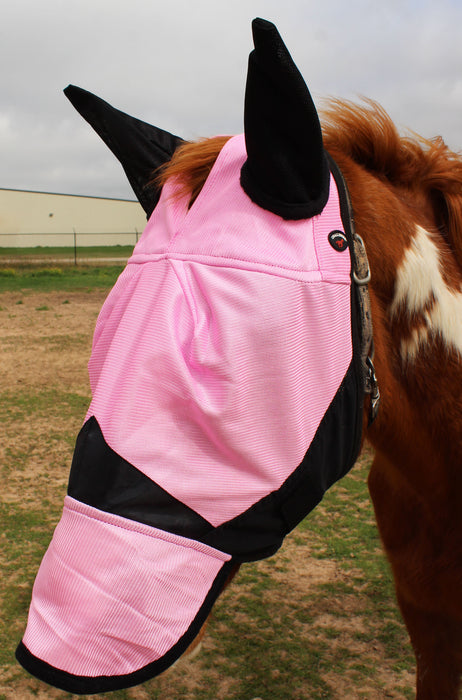Equine Horse Fly Mask Summer Spring Airflow Mesh UV Mosquitoes  73202N